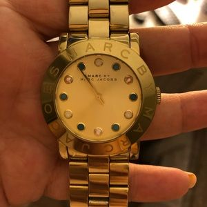 MARC JACOBS CRYSTAL GOLD WATCH